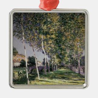 Alfred Sisley   la promenade Ornement Carré Argenté