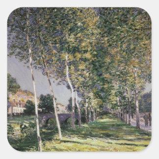Alfred Sisley | la promenade Sticker Carré