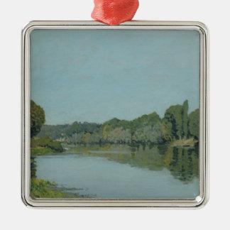 Alfred Sisley   la Seine chez Bougival Ornement Carré Argenté