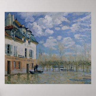 Alfred Sisley | le bateau dans l'inondation, Poster