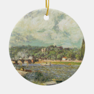 Alfred Sisley | le pont chez Sevres Ornement Rond En Céramique