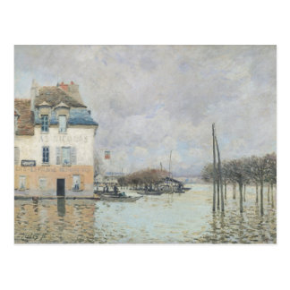Alfred Sisley | l'inondation à Port-Marneux Carte Postale