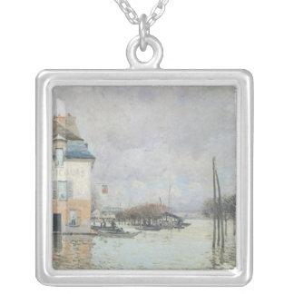 Alfred Sisley | l'inondation à Port-Marneux Pendentif Carré