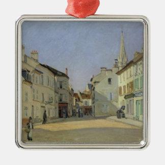 Alfred Sisley | Rue de la Chaussee à Argenteuil Ornement Carré Argenté