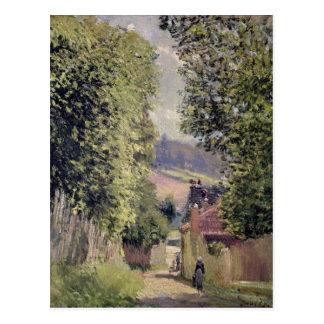 Alfred Sisley | une route dans Louveciennes Carte Postale