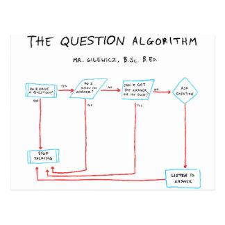 Algorithme de question cartes postales