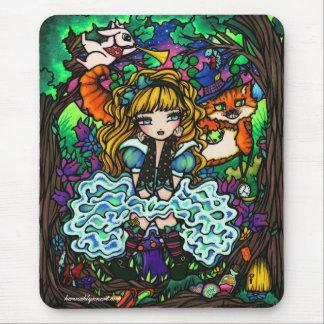 """""""Alice a perdu"""" Alice chez le chat de Cheshire du Tapis De Souris"""