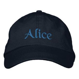 Alice a personnalisé le bleu brodé de casquette de casquette brodée