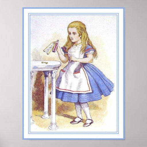 Alice au pays des merveilles buvez moi poster zazzle - Code de reduction alice garden ...