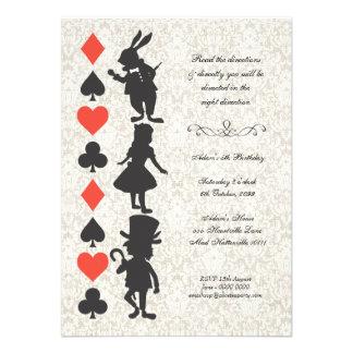 Alice au pays des merveilles carde l anniversaire invitations
