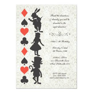 Alice au pays des merveilles carde l'anniversaire invitations