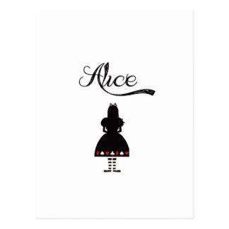 Alice au pays des merveilles carte postale