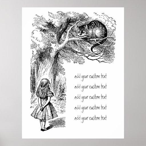 Alice au pays des merveilles ; Chat de Cheshire av Posters