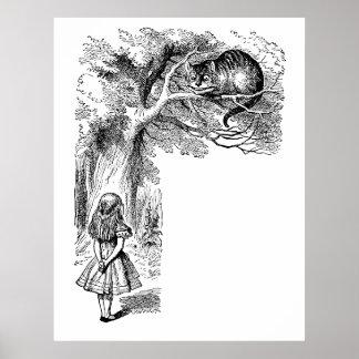 Alice au pays des merveilles Chat de Cheshire av Posters