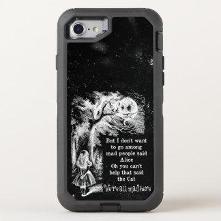 Alice au pays des merveilles ; Chat de Cheshire Coque OtterBox Defender iPhone 8/7