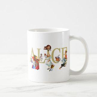 ALICE AU PAYS DES MERVEILLES ET AMIS MUG