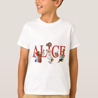 Alice au pays des merveilles et amis t-shirt