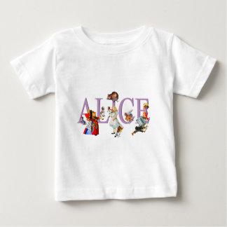 Alice au pays des merveilles et amis t-shirt pour bébé