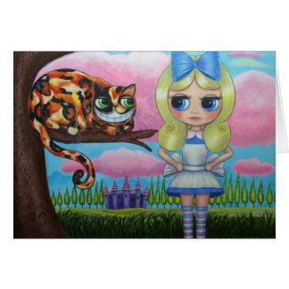 Alice au pays des merveilles et la carte de chat
