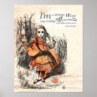 """Alice au pays des merveilles """"je ne suis pas"""