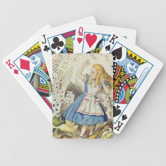 Alice au pays des merveilles, la douche des cartes jeu de cartes