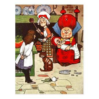 Alice au pays des merveilles : La duchesse avec sa Cartes Postales