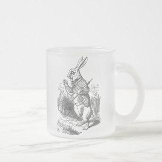 Alice au pays des merveilles le cru blanc de lapin mug en verre givré