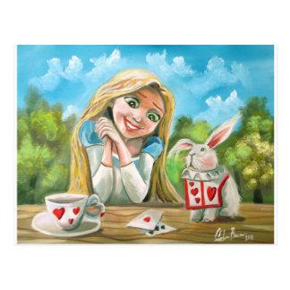 Alice au pays des merveilles le lapin blanc Gordon Carte Postale