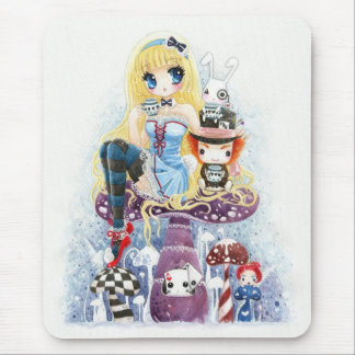 Alice au pays des merveilles tapis de souris