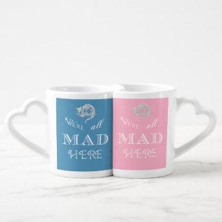Alice au pays des merveilles tout le fou son sien set mugs duo