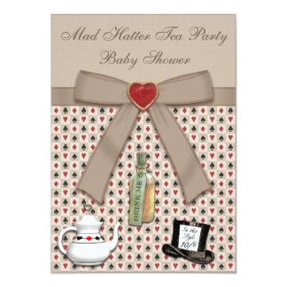 Alice au thé de baby shower du pays des merveilles carton d'invitation  12,7 cm x 17,78 cm