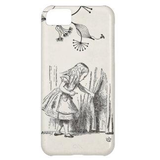 Alice au vieil arrière-plan de papier du pays des coque iPhone 5C