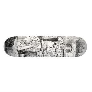 Alice avec la reine rouge plateaux de skateboards customisés