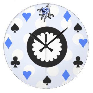 Alice bleue au pays des merveilles orienté horloges murales