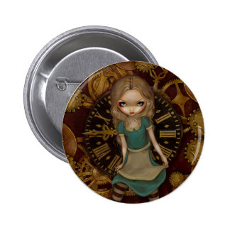 """""""Alice bouton dans rouages"""" Badge"""
