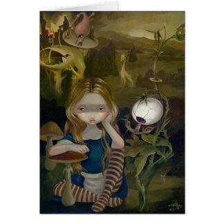 """""""Alice carte de voeux dans de Bosch paysage"""""""