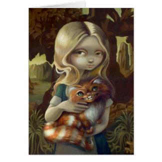 """""""Alice carte de voeux dans de da Vinci portrait"""""""