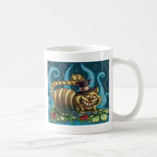 Alice chez le chat de Cheshire du pays des Mug