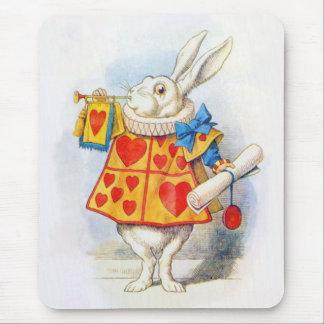 Alice chez le lapin blanc Mousepad du pays des Tapis De Souris