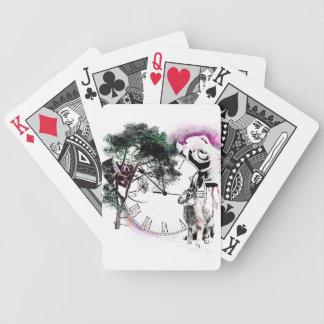 Alice dans des cartes de jeu du pays des merveille jeu de cartes