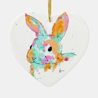 Alice dans des conceptions de couleur d'eau du ornement cœur en céramique
