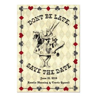 Alice dans des économies du pays des merveilles la carton d'invitation  12,7 cm x 17,78 cm