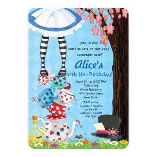 Alice dans des invitations du pays des merveilles