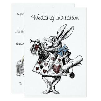Alice dans la carte de faire-part de mariage du