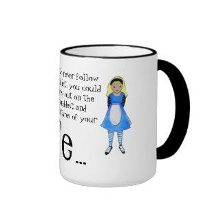 Alice dans la citation du pays des merveilles mug ringer