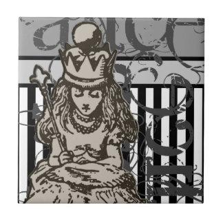 Alice dans la grunge de la Reine Alice du pays des Petit Carreau Carré
