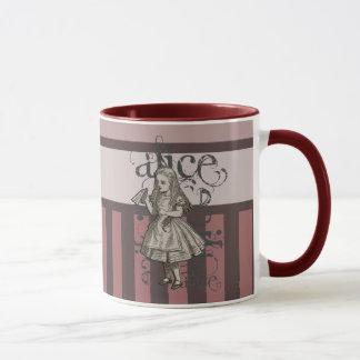 Alice dans la grunge du pays des merveilles (rose) mug