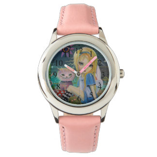 Alice dans la montre Girly mignonne de conte de Montres Bracelet