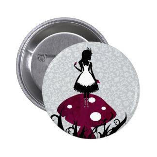 Alice dans le bouton de Pin du pays des merveilles Pin's