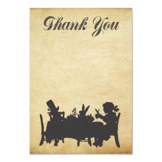 Alice dans le carte de remerciements de thé du carton d'invitation 8,89 cm x 12,70 cm